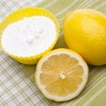 limona in lonček sode bikarbone
