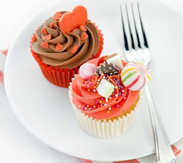 mini tortici za valentinovo in noč čarovnic