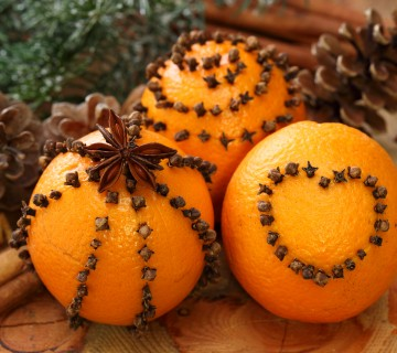 pomaranče s klinčki