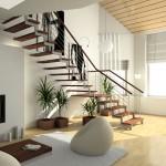 modern interier s stopniščem