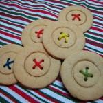 piškoti v obliki gumbov