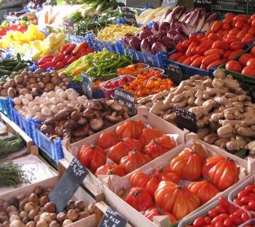 ponudba gob in zelenjave