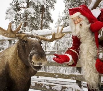 Božiček in jelen