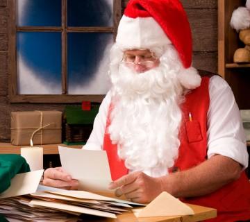 Božiček bere pisma