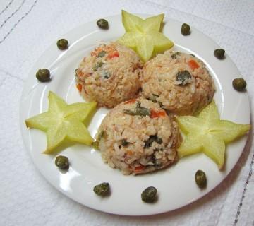 riževa solata tuna kapre