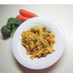testenine z mandlji, korenčkom in brokolijem