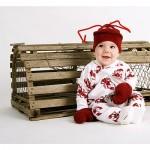 dojenček oblečen v škampa