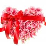 iz vrtnic oblikovano srce s pentljo
