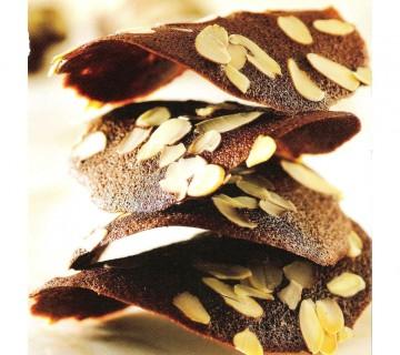 čokoladni čips z mandlji, upognjenci