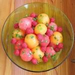 kupa z lubenico in melono