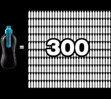 bobble nadomesti 300 običajnih plastenk