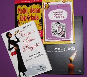štiri predstavljene knjige - naslovnice