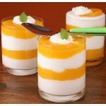 kaki z jogurtom v kozarčkih