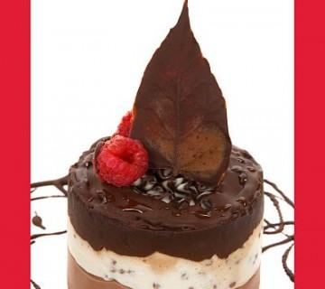 čokoladni listič na tortici