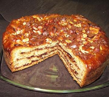 nutellin praznični kolač