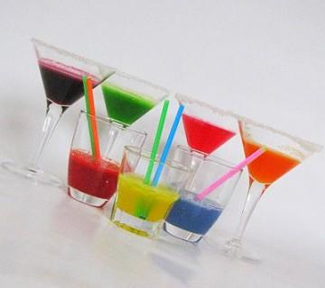 skittles vodka - različne v kozarcih