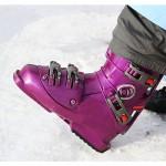 vijoličen smučarski čevelj