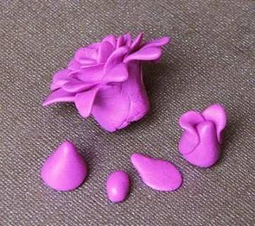 faze izdelave rožice