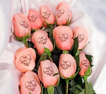 roza vrtnice s potiskom
