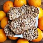 piškoti, čokoladne čipke s pomarančo