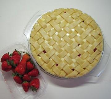 surova pita, mreža iz testa
