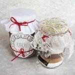 darila v kozarcih, kakav in masa za piškote