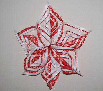 božični okraski iz papirja zvezda