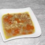 fižolova juha z ajdovo kašo in korenjem