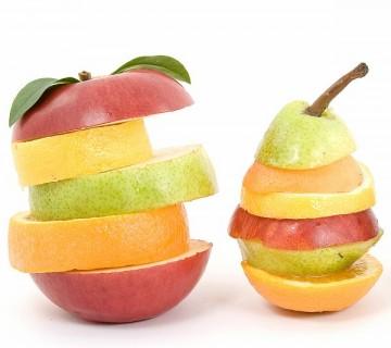 rezine različnega sadja ena na drugi
