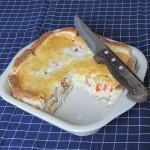 beljaki s kruhom in zelenjavo iz pečice